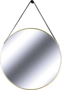 Espelho Redis Moldura Banhada Cor Dourado 75 Cm (Larg) - 43551 Sun House