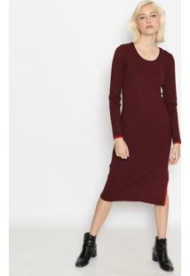 Vestido MãDi Com Fenda - Bordã´Calvin Klein