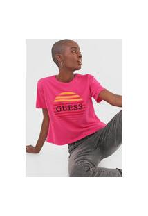 Camiseta Guess Sunset 3 Colors Pink