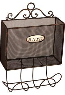 Porta Toalha De Metal Bath Essex