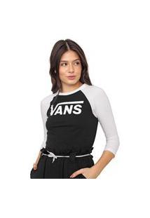 Camiseta Vans Flying V Raglan Preta