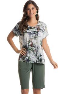Pijama Sabrina C/ Bermuda Verde/G