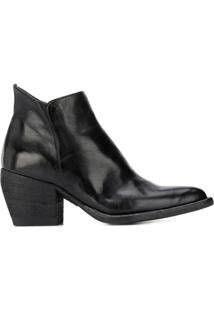 Officine Creative Bota Carole Com Salto 75Mm - Preto