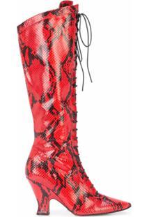 Marc Jacobs Bota Alta 'Victorian' - Vermelho