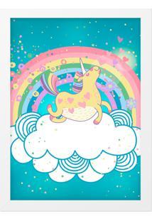 Quadro Adoraria A3 Unicornio Multicolorido