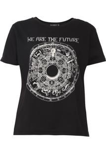 Camiseta Fiveblu Are The Future Preta