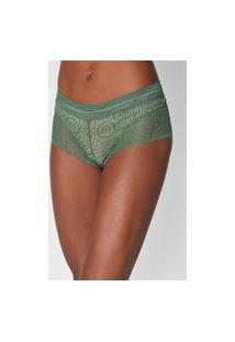 Calcinha Colcci Underwear Caleçon Renda Verde