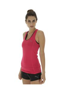 Camiseta Regata Puma Essential Layer - Feminina - Rosa Escuro