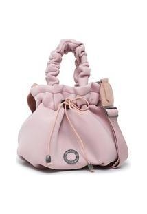 Bolsa Feminina Saco Pequena Bag Rosa Sacola Bucket Lançamento Promoção