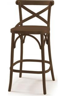 Cadeira Madeira Maciça Alta 100Cm X Maxima Marrom Escuro