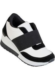 Tênis Sneaker Branco Com Elástico
