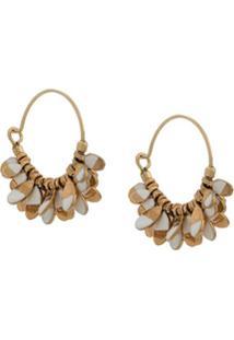 Isabel Marant Charm Detail Hoop Earrings - Dourado