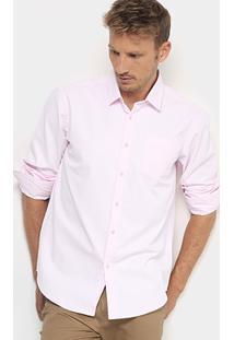 Camisa Social Broken Rules Textura Masculina - Masculino-Rosa Claro