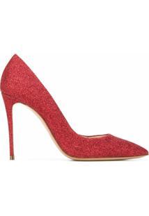 Casadei Sapato Com Brilho - Vermelho