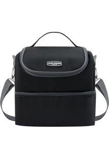 Bolsa Térmica Com Compartimentos - Preta - 27X28X22,Jacki Design