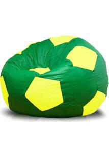 Puff Bola Super Courino Verde/Amarelo - Phoenix Puff