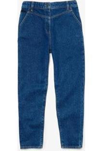 Calça Lacoste Regular Fit Feminina - Feminino-Azul