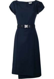 Fendi Vestido Com Cinto - Azul