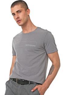 Camiseta Calvin Klein Jeans Estampada Cinza