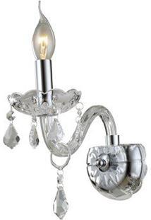 Arandela Cristal Maria Thereza 1E14 Transp