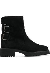 Hogl Buckle-Detail Ankle Boots - Preto