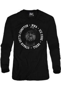 Casaco Moletom Skull Clothing Ice Cube Masculino - Masculino-Preto