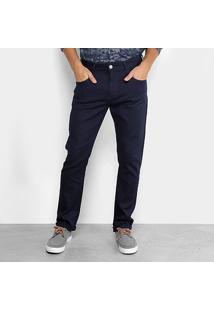 Calça Jeans Slim Forum Lavagem Escura Paul Masculino - Masculino-Azul Escuro