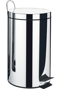 Lixeira Brinox Standard Com Pedal Aço Inox 3L Prata