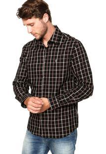 Camisa Forum New Fred Quadriculado Preta