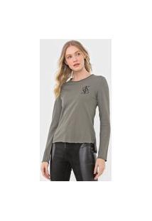 Blusa Calvin Klein Jeans Lettering Verde
