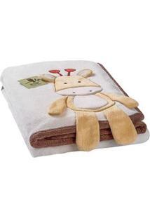 Cobertor Microfibra Girafa 1 Rmc Baby – Bege Marrom