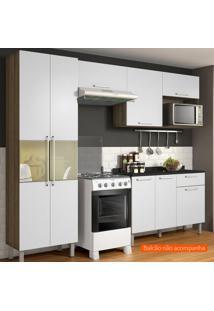 Cozinha Compacta Star 5 Pt Castanho E Branca