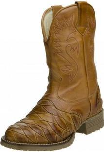 Bota Clacle Texana - Masculino-Marrom Claro
