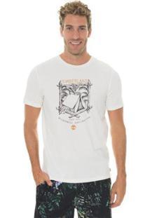 Camiseta Timberland Timberland Camping Masculina - Masculino-Branco