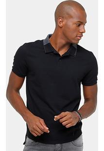 Camisa Polo Calvin Klein Piquet Mescla Masculina - Masculino
