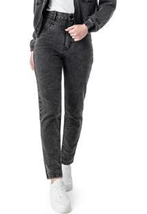 Calça Preta Mom Jeans Black