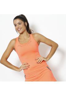 Regata Nadador Com Inscrição - Laranja Neon & Preta-Physical Fitness