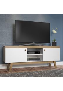 Rack Para Tv Até 60 Polegadas 2 Portas Trend 26701 Hanover/Branco - Pnr Móveis