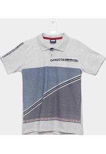 Camiseta Polo Infantil Estampada Gangster Masculina - Masculino