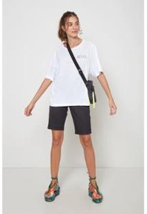 Blusa Bordado Linha Oh, Boy! Feminina - Feminino-Branco