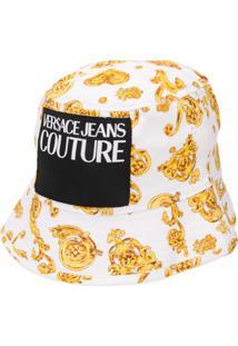 Versace Jeans Couture Chapéu Com Patch De Logo E Padronagem Barroca - Branco