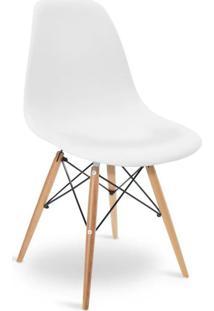Cadeira Eames Dkr Wood Branco - Branco - Dafiti