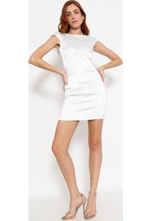 0f212b3d2f -79% Vestido Maquinetado Acetinado - Brancoversace Collection