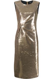 P.A.R.O.S.H. Vestido Pille - Dourado