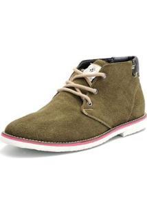 Bota Shoes Grand Cano Curto Masculina - Masculino-Verde Escuro