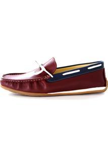 Mocassim Dockside Sapatotop Shoes Drive Vinho/Azul