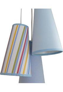 Luminária Cacho Mix Menino Crie Casa Azul E Branco