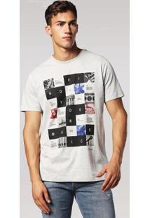 Camiseta Diesel T-Joe Rx Masculina - Masculino-Cinza