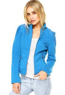 Jaqueta Mooncity Renda Azul