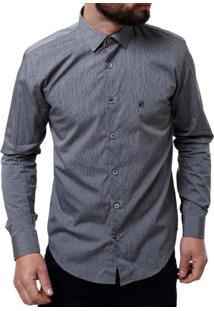 Camisa Manga Longa Masculina Elétron Cinza